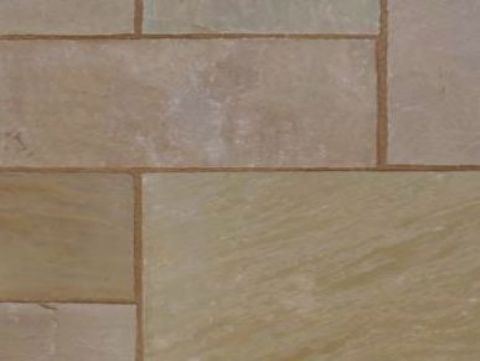 Thin sunset buff (Sandstone) patio paving