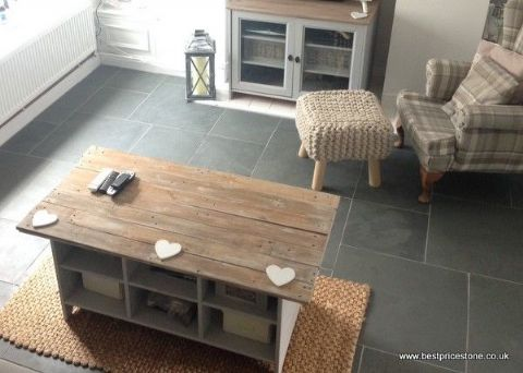Brazilian Grey Green slate floor tile